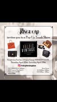 VALOIS VINTAGE PARIS TRUNK SHOW IN LOS ANGELES April 26th to 28th!!!!!